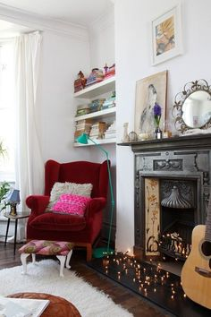 12 Ideas for Your Nonworking Fireplace | Apartment Therapy