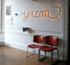 words with lights | fairy lights words. Headboard fairy lights. Bedroom shapes. Bedroom ...