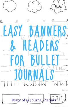 15 easy to draw bullet journal banners and headers. Find doodle ideas and step by step tutorials on how to draw banners. Doodle Art For Beginners, Bullet Journal For Beginners, Bullet Journal Banner, Bullet Journal Hacks, Bullet Journal How To Start A, Bullet Journal Layout, Bullet Journal Ideas Pages, Bullet Journal Inspiration, Journal Pages