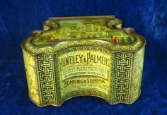 22662 Old Vintage Antique Tin - Biscuits Huntley & Palmers Victorian Ancient Rom