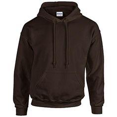 Gildan Heavy Blend Erwachsenen Kapuzen-Sweatshirt 18500 L, Dark Chocolate - http://besteckkaufen.com/products/l-gildan-unisex-kapuzen-sweatshirt-heavy-blend-4