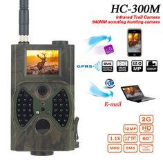 Suntek HC300M 940NM de Infrarrojos de Visión Nocturna 12 M Cámara Rastro Digital de Soporte de Control Remoto 2G HC-300M MMS GPRS GSM Cámara de la caza