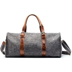Graf & Lantz wool & leather duffel bag.
