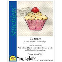 Stitchlets Cupcake Counted Cross Stitch Kit | Hobbycraft