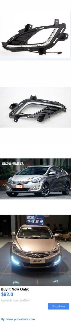 Motors Parts And Accessories: Led Drl Driving Daytime Running Day Fog Lamp Light For Hyundai Elantra 2012~2014 BUY IT NOW ONLY: $92.0 #priceabateMotorsPartsAndAccessories OR #priceabate