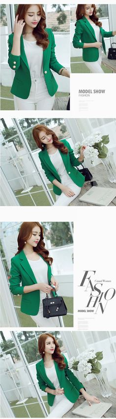 New Long-Sleeved Slim Women Blazers And Jackets Small Women Suit Korean Version Slim (Green Yellow Black)  Ladies Blazer Femme   http://www.dealofthedaytips.com/products/new-long-sleeved-slim-women-blazers-and-jackets-small-women-suit-korean-version-slim-green-yellow-black-ladies-blazer-femme/