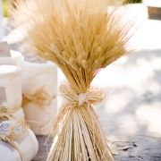 Wheat bundle centerpiece.... could be cute