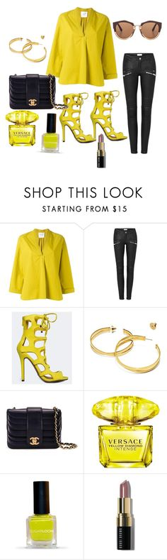"""""""Untitled #793"""" by stylemirror ❤ liked on Polyvore featuring Forte Forte, Breckelle's, Tory Burch, Chanel, Versace, Bobbi Brown Cosmetics and Marni"""
