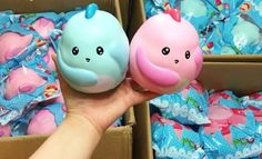 SCENTED, SLOW RISE and BIG Baby Dinosaur! OH SO kawaii and OH SO ADORABLE! Dinosaurs are BIG and they smell AMAZING!! Super, SUPER SOFT and SLOW RISING! Comes p