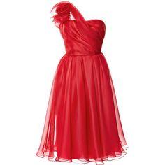 One Shoulder Silk Gazaar Cocktail Dress (25.205 DKK) ❤ liked on Polyvore featuring dresses, vestidos, marchesa, vestiti, red silk cocktail dress, red one sleeve dress, silk cocktail dress, red cocktail dress and single shoulder dress