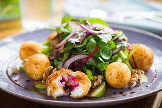 A salad packed with flavour!   #flavour #beetroot #cheese #goatscheese #cheeseballs #salad #irish Cheese Ball, Goat Cheese, Beetroot, Potato Salad, Goats, Irish, Salads, Ethnic Recipes, Christmas