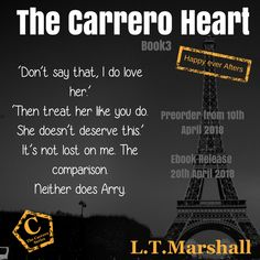 # Coming Soon! # 💛 The Carrero Heart - Happy Ever Afters 💛 by L.T Marshall Have you joined yet? If not, check out where it all started using the links below: 💛 Universal book links: getBook.at/CarreroSeries Do Love, Like You, Almost Ready, She Likes, The Book, Heart, Check, Happy, Books