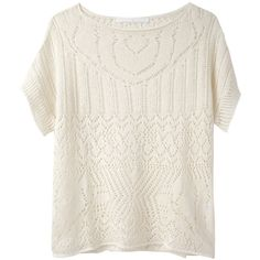 Thakoon Addition Pointelle Linen Sweater ($118) ❤ liked on Polyvore