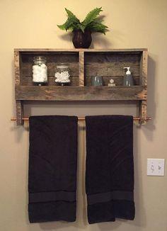 Recuperada madera cobre barra doble toalla por NCRusticdesigns