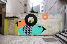Street art by Lelo - Rio De Janeiro, Brazil. - I'd love to get something drawn up by an artist from the RVA Mural Project!