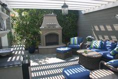 Garden room between the house and garage.