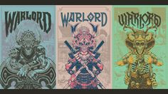 A Warlord series I've been working on compressed into a [1920x1080] wallpaper