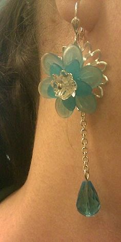 lucite flowers for jewelry making | Lucite flower earrings $20