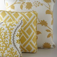 pillows yellow and grey
