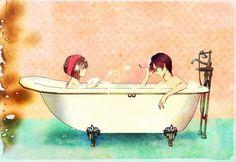 Aushun Hetalia bubble bath