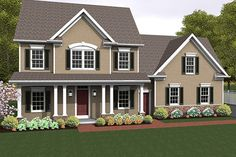 colonial with attached garage home exteriors pinterest