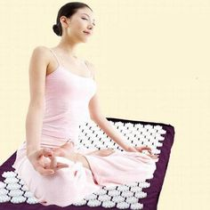 Purple Yoga Mat Massager Massage cushion Acupressure Mat Relieve Stress Pain Acupuncture Spike Yoga Mat pin pad/yoga mat – SHOP THE NATION – acupression Acupuncture Stress, Acupuncture Benefits, Acupressure Massage, Acupressure Treatment, Reflexology, Yoga Nidra, Tappetino Yoga, Neck Pain Relief, Stress Relief