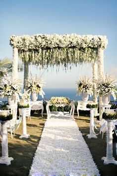 Outdoor Wedding Canopy Elegant Decorated With Fauna Keywords