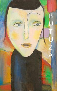 Swiss Artist   Painted by Cathy Butuza   #outsiderart #artbrut #art #artist #artists #artwork #acrylic #illustration #illustrationart #facesart #drawing #painting #canvas