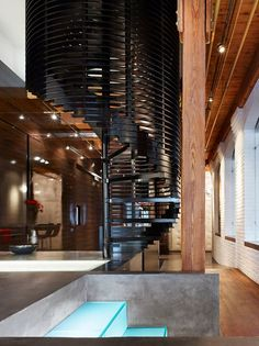 Penthouse at the Candy Factory Lofts, Toronto, 2011 - Johnson Chou Studio #staircases