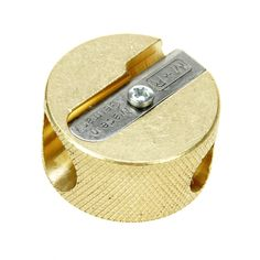 M R Professional Solid Brass Circular Double Hole Sharpener