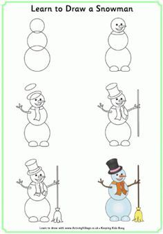 learn to draw christmas - Google Search