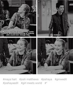 Maya getting giggly over Josh is probably my favorite thing. Girl Meets World Josh, Boy Meets World Quotes, Old Disney Shows, Cory And Topanga, Relationship Posts, Relationships, Really Funny Memes, Lady And The Tramp, Disney Memes