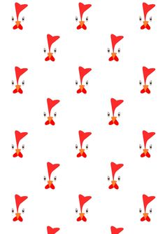 FREE printable CHICKEN pattern paper ^^   funny easter pattern