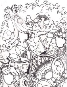 psychedelic sun coloring pages - Pesquisa do Google