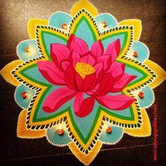 Rangoli Designs Latest, Simple Rangoli Designs Images, Rangoli Designs Flower, Rangoli Border Designs, Colorful Rangoli Designs, Flower Rangoli, Beautiful Rangoli Designs, 3d Rangoli, Easy Diwali Rangoli