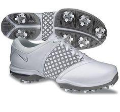 Nike Golf Ladies Air Embellish Golf Shoes 2013 - White/Metallic Silver