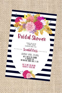 Kate Spade Themed Bridal Shower Invitation by Printaholics on Etsy