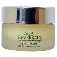 Desert Essence Age Reversal Eye Cream, .5-Ounce, by Desert Essence. $24.95. Serving Size:. 0.5 Ounces Cream. An alternative to reduce facial tensionVisibly Reduces DEEP Wrinkles Age Reversal FaceCream with Patent Pending Technology is designed for the sensitive eye area. This non-greasy anti-wrinkle treatment helps moisturize the eye and fine line area, while visibly reducing facial tension and the appearance of DEEP wrinkles. This unique formulation with Pat...