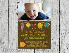 Fishing Party Custom Photo Invitation by 3LittleMonkeysStudio, $10.00