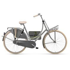 #Batavus #OldDutch Plus stads #fiets D50 #grijs