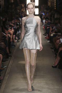 Julia Nobis opens the Alex Perry 75001 Collection at Mercedes-Benz Fashion Week Australia (MBFWA)