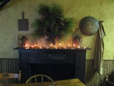 Another Black Mantel Cabin Christmas, Christmas Mantels, Primitive Christmas, Rustic Christmas, Christmas Holidays, Merry Christmas, Primitive Fireplace, Cozy Fireplace, Fireplace Mantels