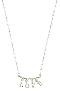 LOVE LETTERED DANGLE NECKLACE