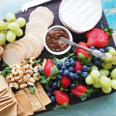 A platter is always a great starter. These are my 7 tips for how to create the perfect antipasto platter. Antipasto Platter, Canapes, Starters, Cheese, Recipes, Food, Party, Image, Ideas
