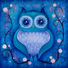 Midnight owl (reminds me of that Black Milk design)