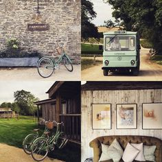 Soho Farmhouse, bikes and milk floats, electrical or human powered... In style! #englishcountryside #newopening #sohofarmhouse #sohohouse #timelesselegance #bikes #milkfloat