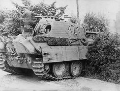 Panther tank number 421 with zimmerit