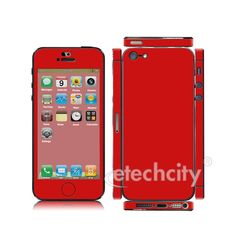 Colorful Skin Cover Screen Protector for Apple iPhone 5 [CCSK-PHVP11] - $12.00 : Red