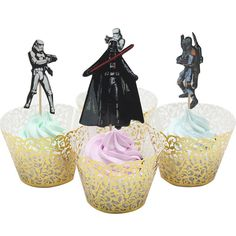 24 Star Wars Cupcake Topper Picks: Stormtrooper, Boba Fett and Darth Vader >>> Quickly view this special product, click the image - Baking tools