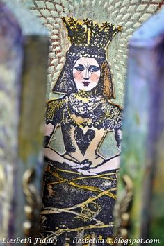 Liesbeth's Arts & Crafts Using Lynne Perrella Stamps